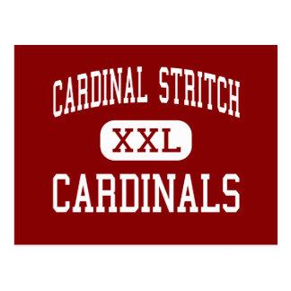 Stritch cardinal - cardenales - alto - Oregon Ohio Tarjetas Postales