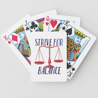 Strive For Balance Bicycle Playing Cards