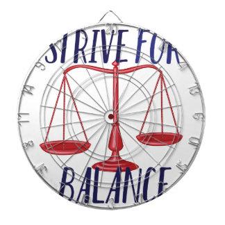 Strive For Balance Dart Board