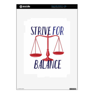 Strive For Balance iPad 2 Decals