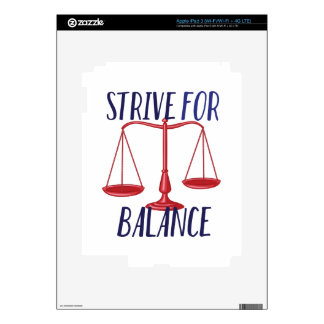 Strive For Balance iPad 3 Decals
