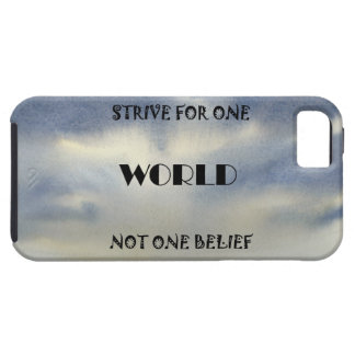 Strive For One World Not One Belief iPhone SE/5/5s Case