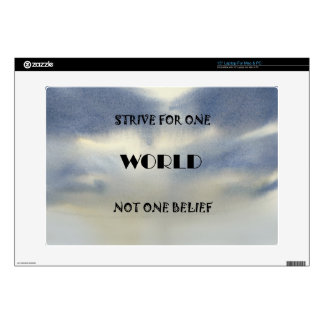 Strive For One World Not One Belief Skin For Laptop