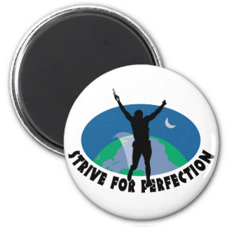 Strive For Perfection 2 Inch Round Magnet