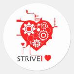STRIVE Heart Stickers