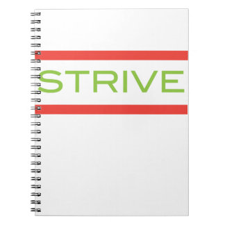 Strive - Inspiration Workout And Fitness Spiral Notebook