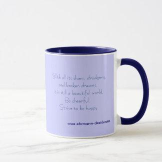 strive to be happy mug