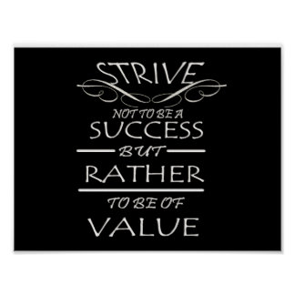 Strive to be of value poster