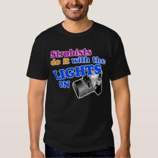 """""""Strobists lo hace con las luces en"""" camiseta de Remera"""
