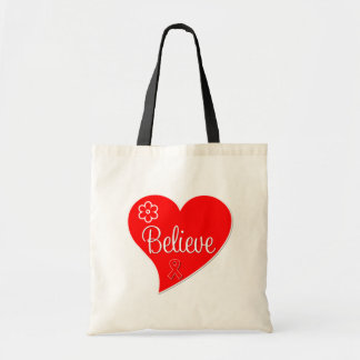 Stroke Awareness Believe Red Heart Bags