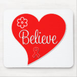 Stroke Awareness Believe Red Heart Mouse Mats