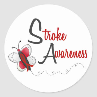 Stroke Awareness BUTTERFLY SERIES 2 Classic Round Sticker