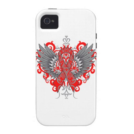 Stroke Awareness Cool Wings iPhone 4/4S Cases