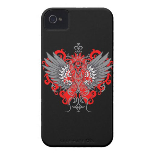 Stroke Awareness Cool Wings iPhone 4 Case-Mate Case
