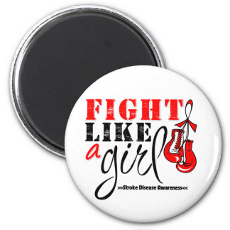 Stroke Awareness Fight Like a Girl 2 Inch Round Magnet