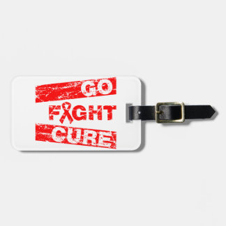 Stroke Awareness Go Fight Cure Travel Bag Tags