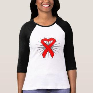 Stroke Awareness Heart Ribbon Tee Shirt