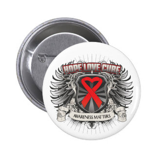 Stroke Awareness - Hope Love Cure 2 Inch Round Button