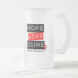 Stroke Awareness Hope Love Cure Mugs