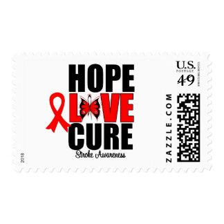 Stroke Awareness Hope Love Cure Stamp