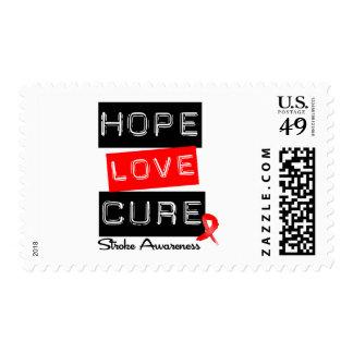 Stroke Awareness Hope Love Cure Postage