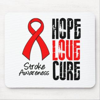 Stroke Awareness Hope Love Cure Ribbon Mouse Mat