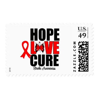 Stroke Awareness Hope Love Cure Stamps