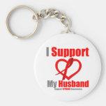 Stroke Awareness I Support My Husband Key Chain