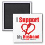 Stroke Awareness I Support My Husband Fridge Magnet