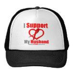 Stroke Awareness I Support My Husband Mesh Hat