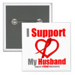 Stroke Awareness I Support My Husband Pin