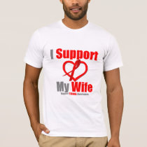 Stroke Awareness I Support My Wife T-Shirt