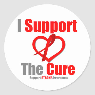 Stroke Awareness I Support The Cure Classic Round Sticker