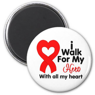 Stroke Awareness I Walk For My Hero 2 Inch Round Magnet