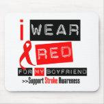 Stroke Awareness I Wear Red Ribbon Boyfriend Mouse Mats