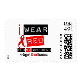 Stroke Awareness I Wear Red Ribbon Boyfriend Stamps
