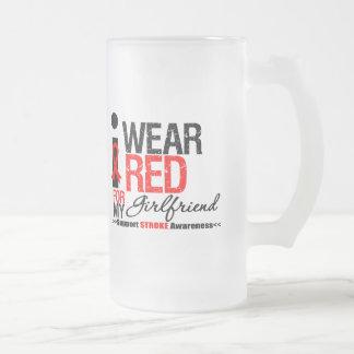 Stroke Awareness I Wear Red Ribbon For Girlfriend Coffee Mug