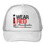 Stroke Awareness I Wear Red Ribbon For Grandfather Trucker Hat