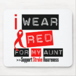 Stroke Awareness I Wear Red Ribbon For My Aunt Mouse Pad