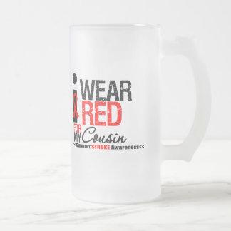 Stroke Awareness I Wear Red Ribbon For My Cousin Mug