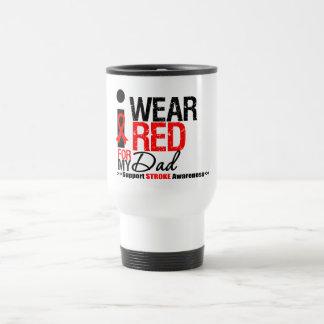 Stroke Awareness I Wear Red Ribbon For My Dad Mug