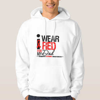 Stroke Awareness I Wear Red Ribbon For My Dad Sweatshirt