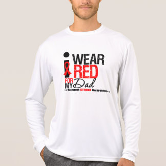 Stroke Awareness I Wear Red Ribbon For My Dad T Shirt