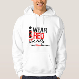 Stroke Awareness I Wear Red Ribbon For My Daddy Hoody