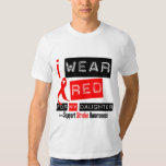 Stroke Awareness I Wear Red Ribbon For My Daughter T-shirt