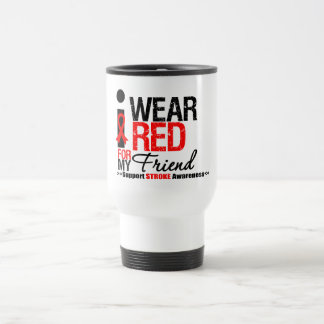 Stroke Awareness I Wear Red Ribbon For My Friend Mugs