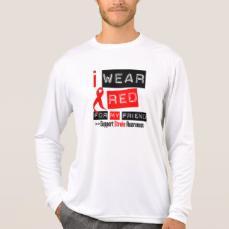 Stroke Awareness I Wear Red Ribbon For My Friend T-Shirt