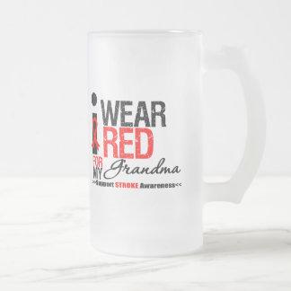 Stroke Awareness I Wear Red Ribbon For My Grandma Coffee Mug