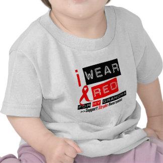 Stroke Awareness I Wear Red Ribbon For My Grandma T-shirt