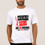 Stroke Awareness I Wear Red Ribbon For My Grandma Shirt